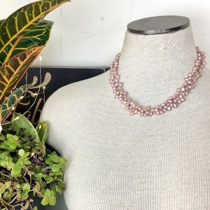 Vintage Pink Baroque Potato Pearl Necklace